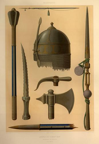 018-Armas de Toman-Bay siglo XVIII-L'art arabe d'apres les monuments du Kaire…Vol 3-1877- Achille Prisse d'Avennes y otros.