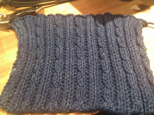 Mini cable rib swatch