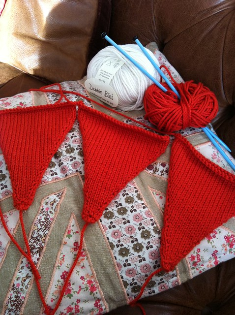 Knitted Christmas bunting WIP Flickr - Photo Sharing!