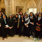 Iranian School Girls with Audrey - Kashan, Iran