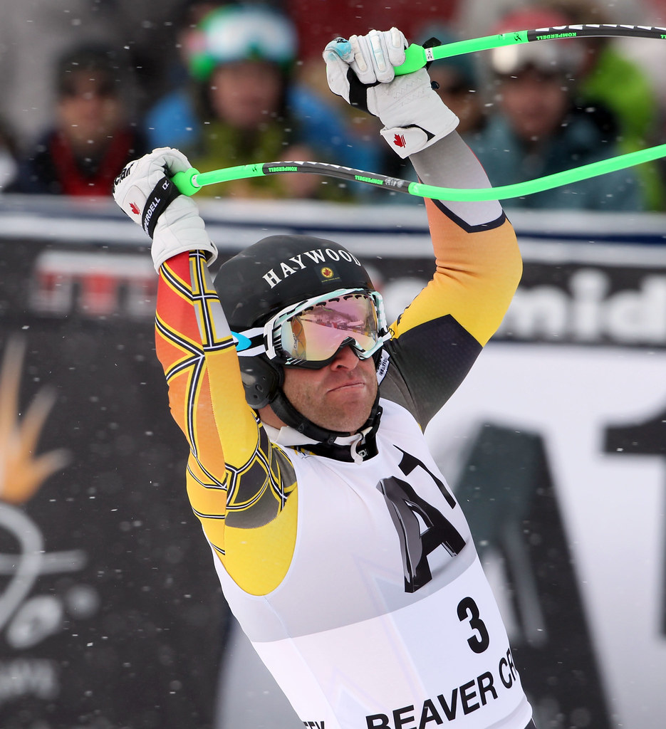 Robbie Dixon after taking an early lead in Beaver Creek, USA. He finished 4th in the men's World Cup super-G.