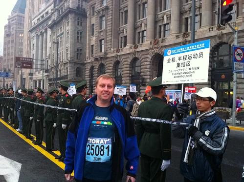 Marc before the Shanghai Marathon