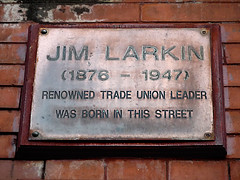 Photo of James Larkin brown plaque