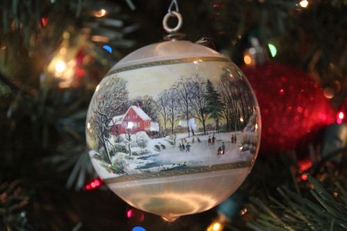 Courrier and Ives reprint ornament