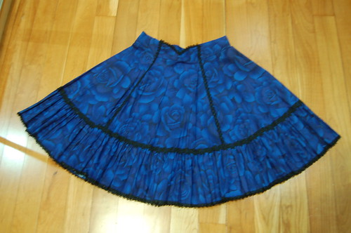 Lolita Closet Count! Skirts: Blue - In The Starlight Electric Blue Roses