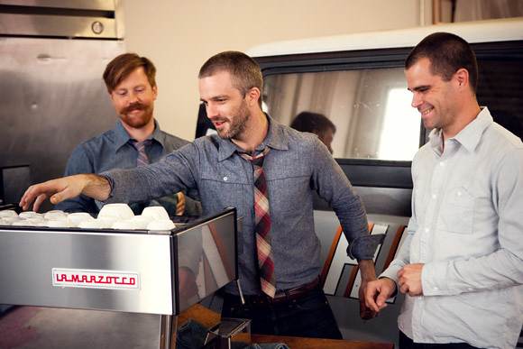 Tyler Wells, Michael Phillips, and Chris Owens of Handsome Coffee