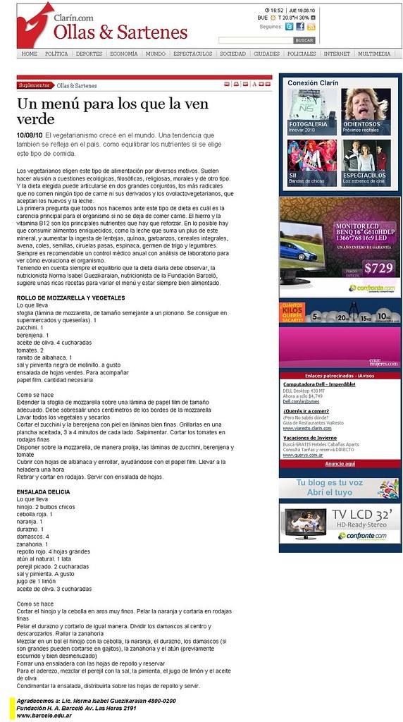 Site Diario Clar°n 10-08-10