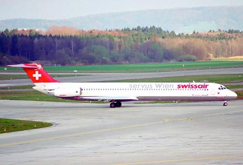 Swissair MD-81; HB-IND@ZRH;08.04.1995