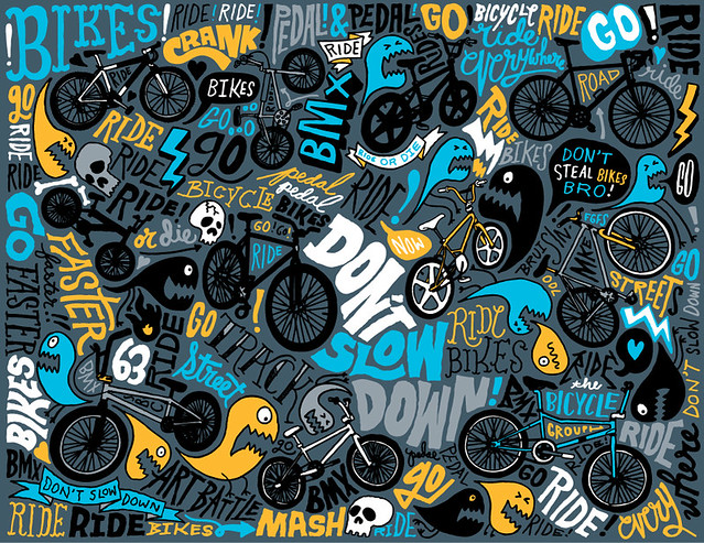 Art Battle LA Bikes Pattern