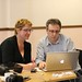 Orbit South social media awareness session - Paula Charlesworth gets help from Nick Booth at Podnosh to create her residents' blog