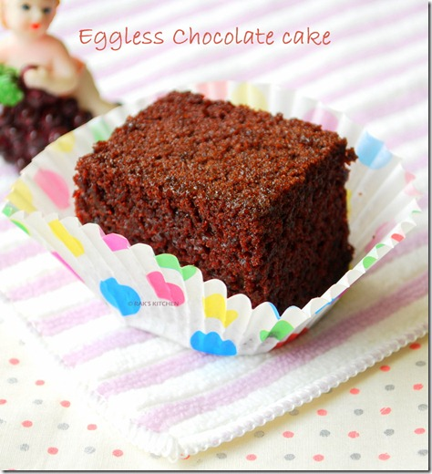 Images Of Eggless Chocolate Cake : Eggless chocolate cake recipe   Moist and soft - Raks Kitchen