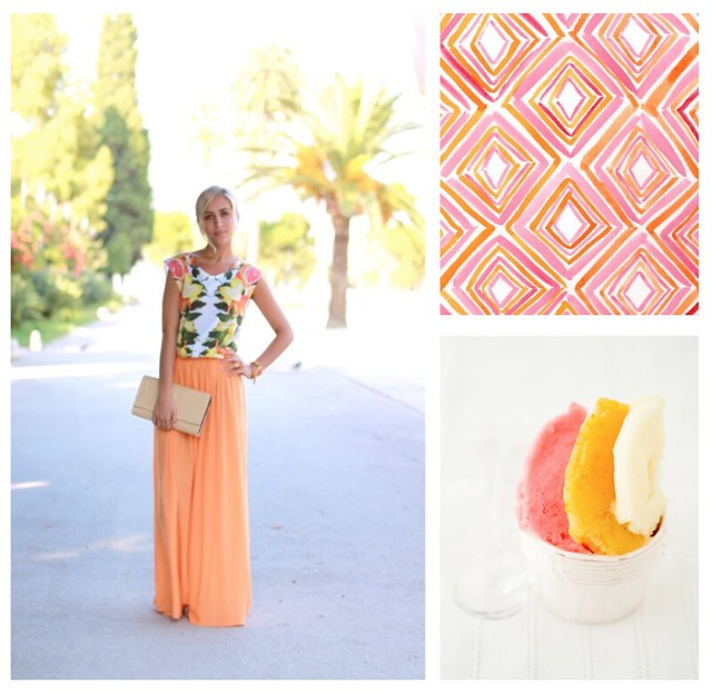 Bisous Chic Blog orange dreams