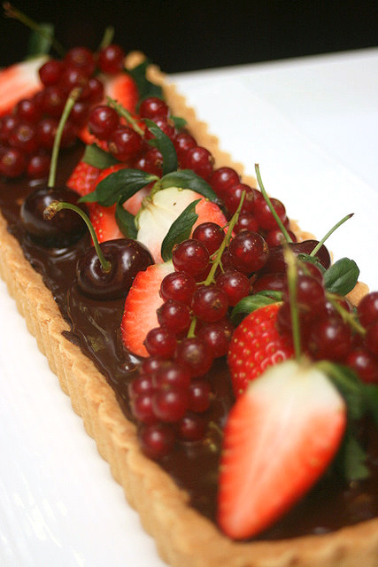 The winning creation - Chocolate and Raisin My Favourite Tart