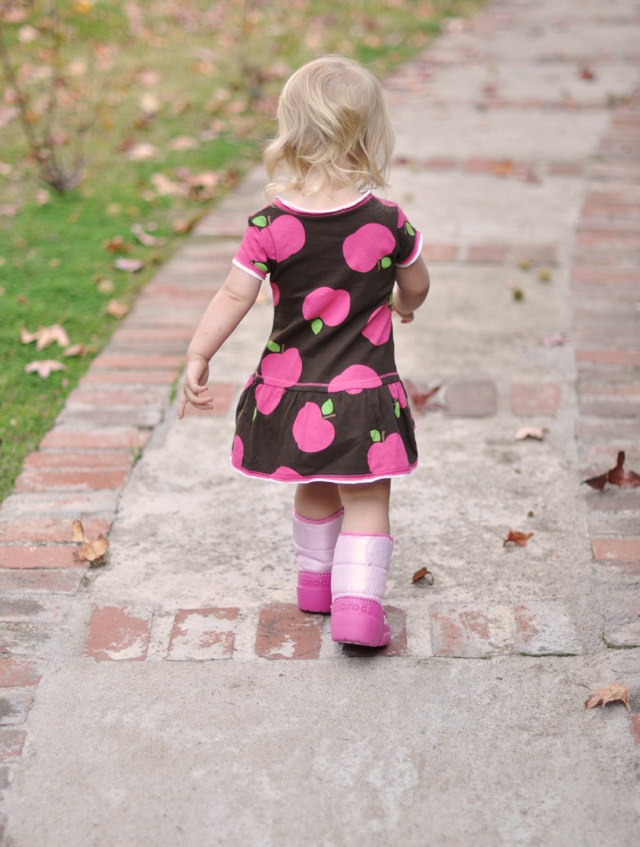 delilah in her pink boots