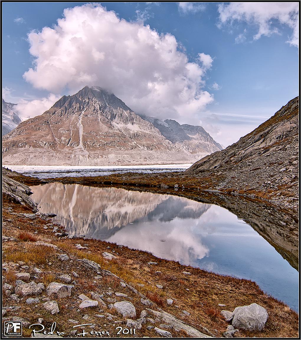 Suiza - Las montañas - Marjelensee y glaciar Aletsch