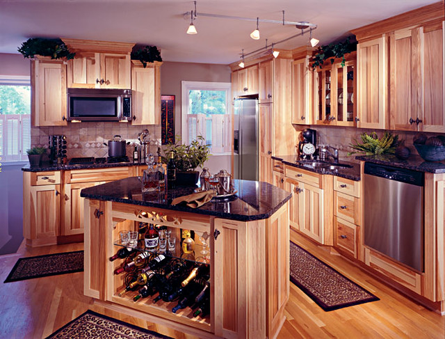 Heritage Hickory Natural Kitchen Cabinetry Flickr Photo Sharing