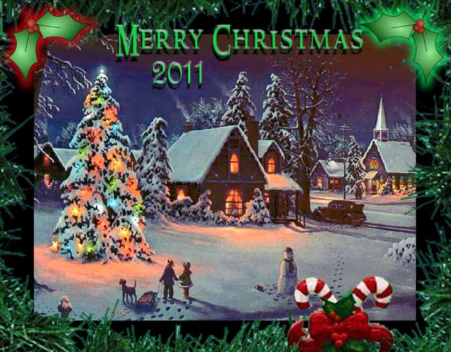 old xmas card - 