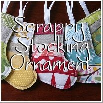 Scrappy Stocking Ornament Tutorial
