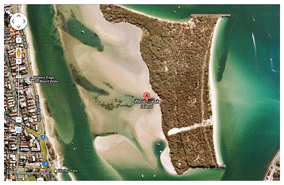 Wavebreak Island Satelite Image 2
