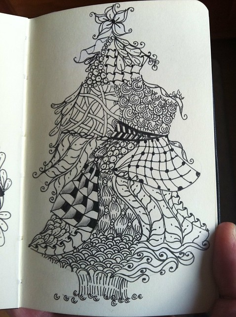 Christmas Tree For Colouring