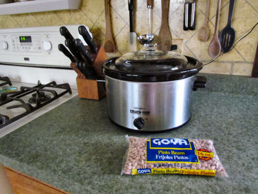 Crockpot and Pinto Beans