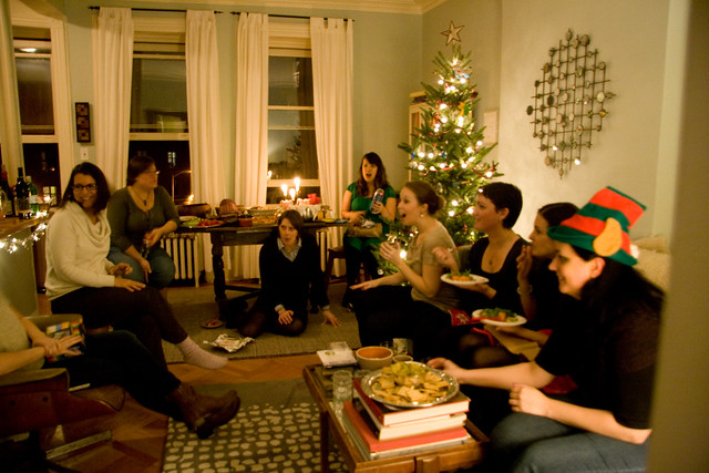 Scene from the Spiders Holiday Party