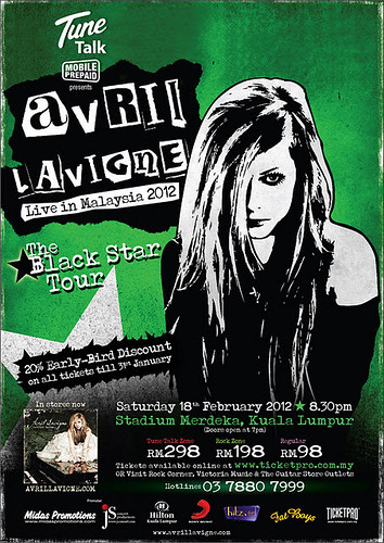 Avril live in Malaysia
