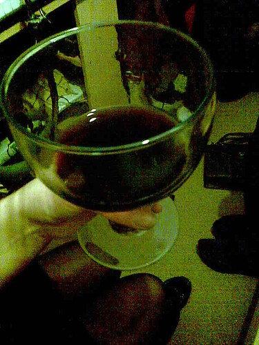 huge glass of wine