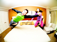 Hotel Bed Jumping!!