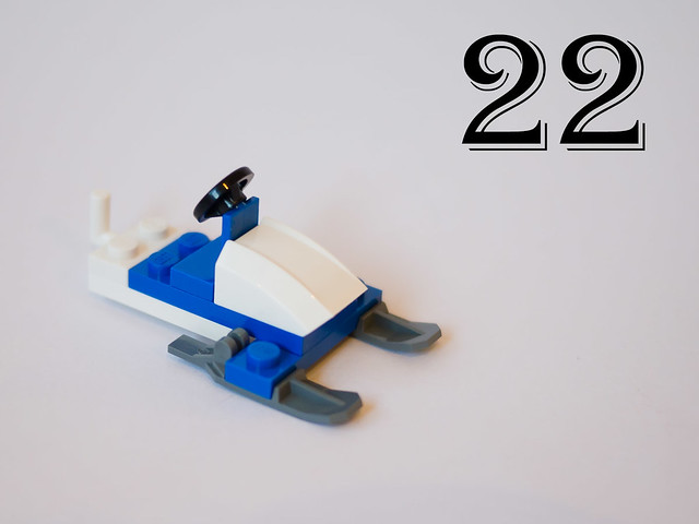 Day 22: Police snow mobile