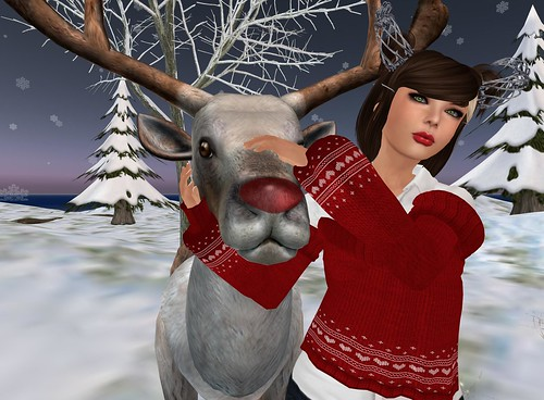 Regina hugs Rudolph