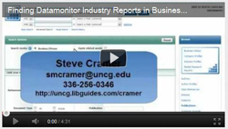 Video on Finding Datamonitor Industry Reports