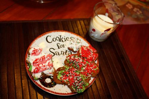 Cookies-for-Santa-plate