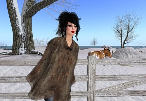 Bliss Couture - Free Fur Poncho Giftba by Cherokeeh Asteria