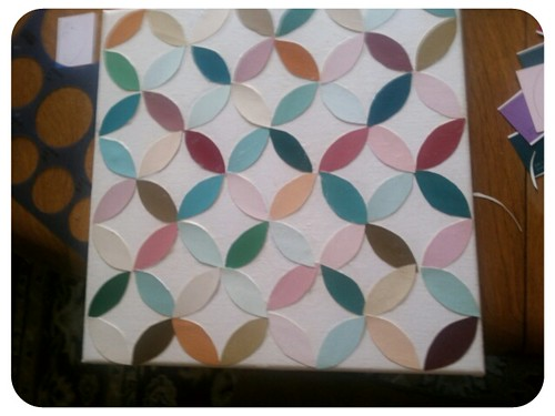 paint chip art-intersecting circles