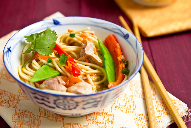 Light Asian Chicken Noodle Soup