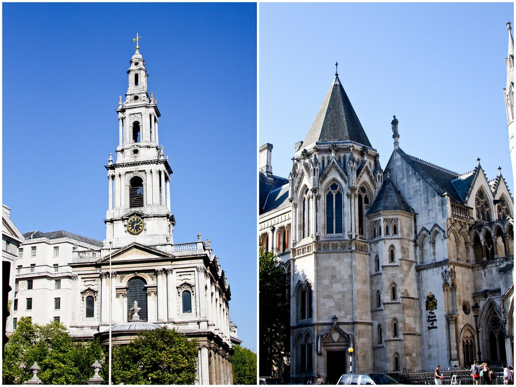 St. Clements Dane and The Royal Courts of Dane