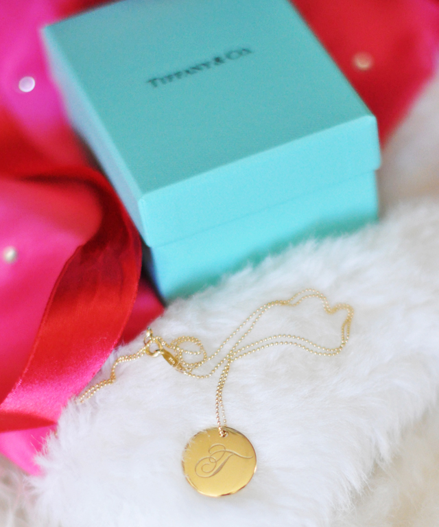 tiffany gold t pendant