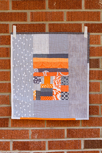 Orange + Gray Improv Mini by jenib320