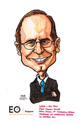 Caricature for EO SIngapore - Prof Steven Miller