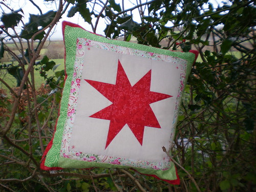 Wonky star cushion