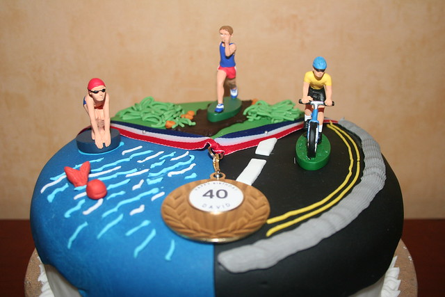 Pin Triathlon Birthday Cake Flickr Photo Sharing Cake On