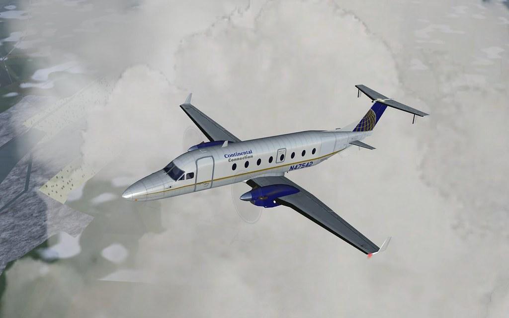 Continental Connection b1900d - flightgear | My Continental … | Flickr