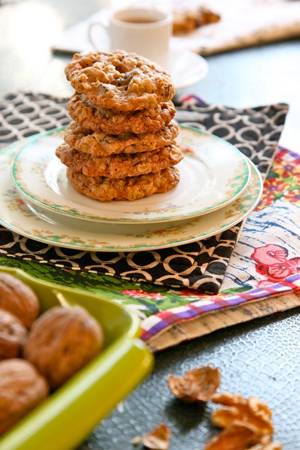 Oatmeal Walnut Cocoa Nib Cookies