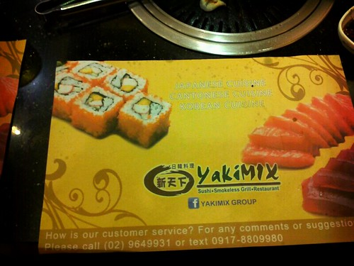 Yakimix place mat here in sm moa by popazrael