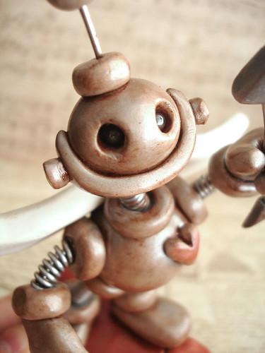 Robot Cupid Silver Simon by HerArtSheLoves
