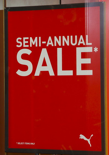 Semi-Annual Sale at Puma Store on Rush Street, Chicago, December 2011
