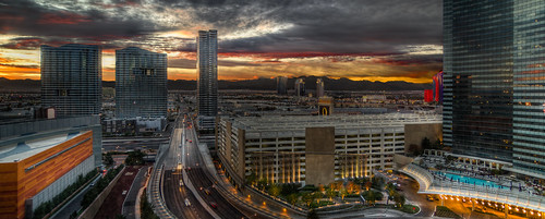 Sunset Behind the Strip