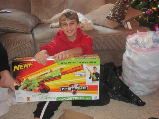 Blake and his nerf gun