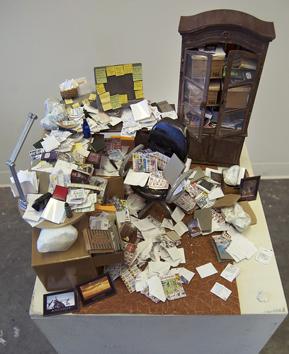 Working From Home, installation detail, 2011, Carrie M. Becker